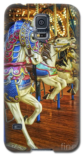 Galaxy S5 Case featuring the photograph Dancing Horses by Debra Fedchin