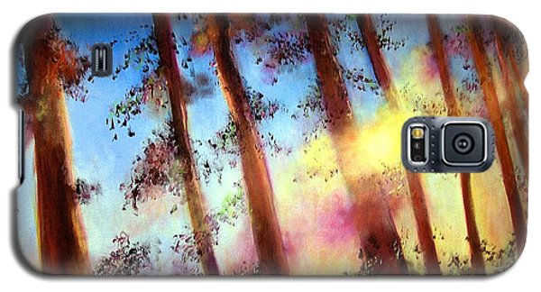 Galaxy S5 Case featuring the painting Looking Through The Trees by Alison Caltrider
