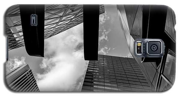 Galaxy S5 Case featuring the photograph Looking Up In Downtown Tokyo by Dean Harte