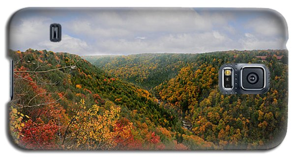 Looking Upriver At Blackwater River Gorge In Fall From Pendleton Point Galaxy S5 Case
