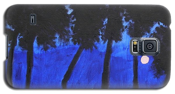 Galaxy S5 Case featuring the painting Looming Shore At Night by Artists With Autism Inc