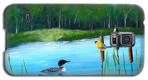Loons In A Lake Galaxy S5 Case