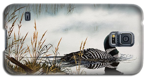 Loon Galaxy S5 Case - Loons Misty Shore by James Williamson