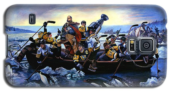 Lord Stanley And The Penguins Crossing The Allegheny Galaxy S5 Case