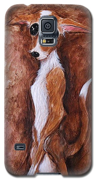 Galaxy S5 Case featuring the painting Loretta Chihuahua Big Eyes  by Patricia Lintner