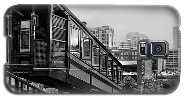 Los Angeles Angels Flight.bw Galaxy S5 Case by Jennie Breeze