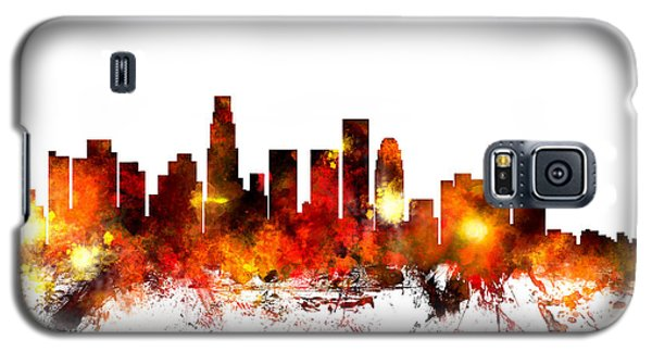Los Angeles California Skyline Galaxy S5 Case by Michael Tompsett