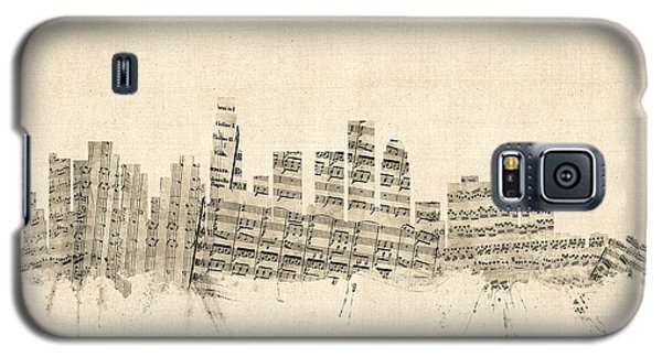 Los Angeles California Skyline Sheet Music Cityscape Galaxy S5 Case