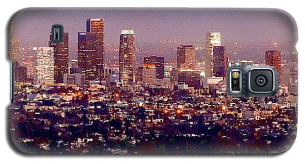 Los Angeles Skyline At Dusk Galaxy S5 Case by Jon Holiday