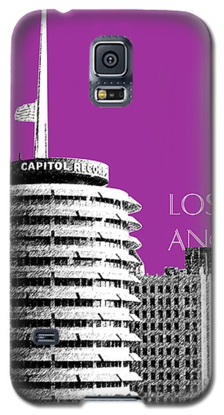 Los Angeles Skyline Capitol Records - Plum Galaxy S5 Case by DB Artist