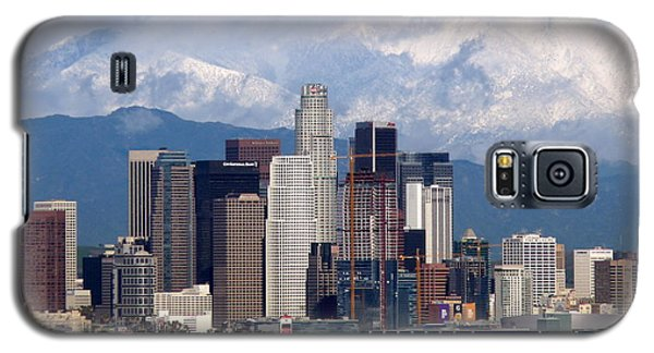 Los Angeles Skyline With Snowy Mountains Galaxy S5 Case