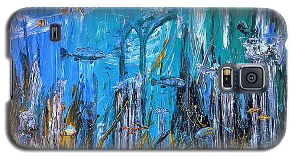 Galaxy S5 Case featuring the painting Lost City by Arturas Slapsys