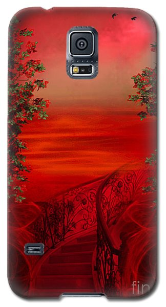 Lost In Red - Surreal Art By Giada Rossi Galaxy S5 Case by Giada Rossi