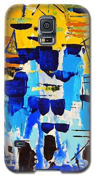 Galaxy S5 Case featuring the painting Lost In The Crowd by Everette McMahan jr