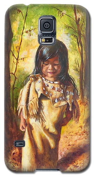 Galaxy S5 Case featuring the painting Lost In The Woods by Karen Kennedy Chatham