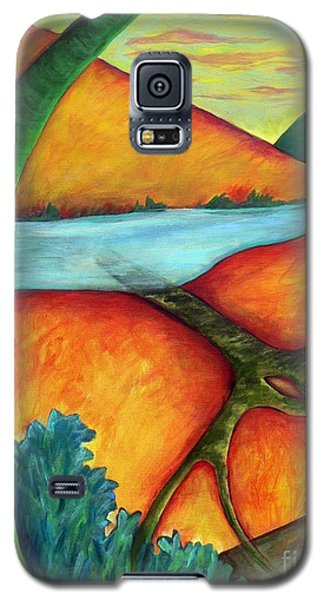 Galaxy S5 Case featuring the painting Lost Land 1 by Elizabeth Fontaine-Barr