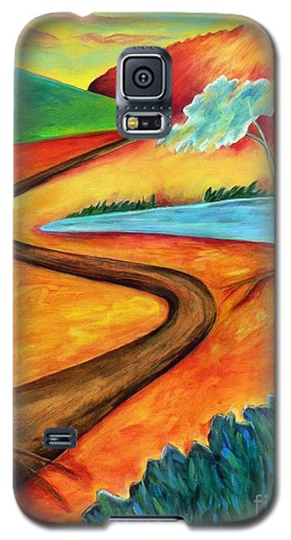 Galaxy S5 Case featuring the painting Lost Land 2 by Elizabeth Fontaine-Barr