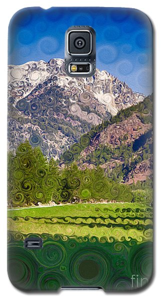 Lost River Airport Runway Abstract Landscape Painting Galaxy S5 Case