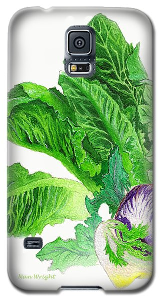 Galaxy S5 Case featuring the painting Lots Of Greens by Nan Wright