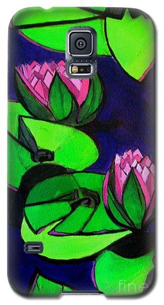 Lotus 2 Botanical Flowers Galaxy S5 Case