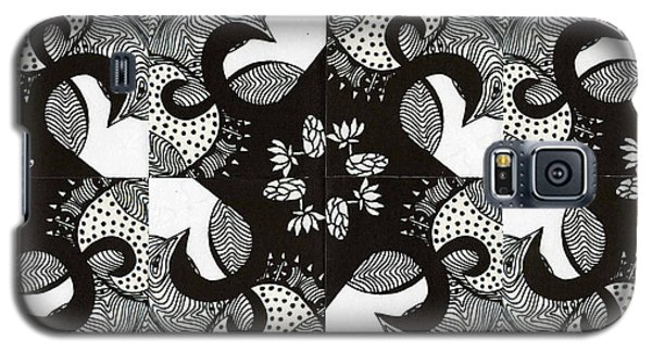 Lotus And Birds Galaxy S5 Case