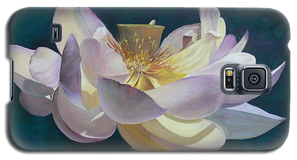 Galaxy S5 Case featuring the painting Lotus Flower by Catherine Hamill