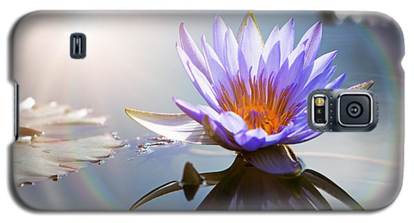 Lotus Flower With Sun Flare Galaxy S5 Case