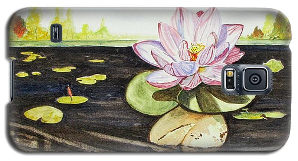 Galaxy S5 Case featuring the painting Lotus Fun by Kevin F Heuman