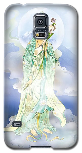 Galaxy S5 Case featuring the photograph Lotus-holding Kuan Yin by Lanjee Chee