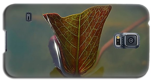 Galaxy S5 Case featuring the photograph Lotus Leaf by Michelle Meenawong