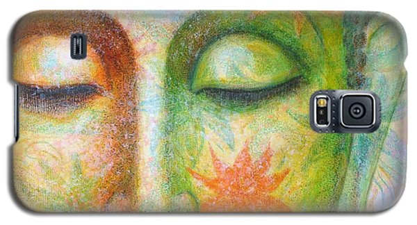 Galaxy S5 Case featuring the painting Lotus Meditation Buddha by Sue Halstenberg