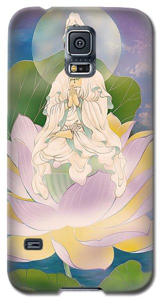 Galaxy S5 Case featuring the photograph Lotus-sitting Avalokitesvara  by Lanjee Chee