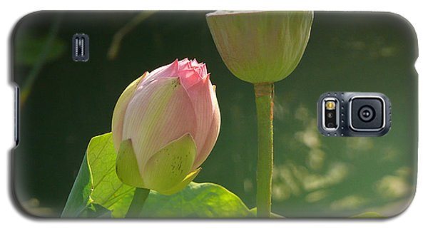 Galaxy S5 Case featuring the photograph Lotus Soft by Evelyn Tambour