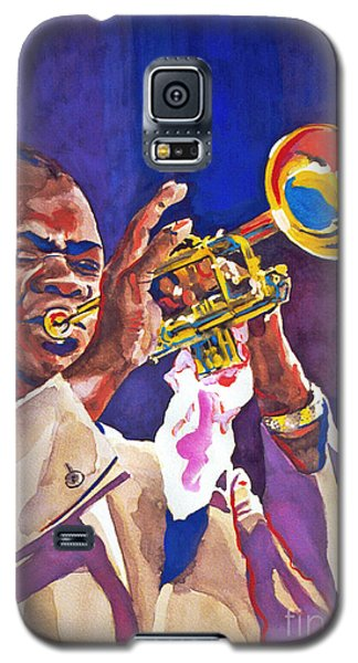 Galaxy S5 Case featuring the painting Louis Satchmo Armstrong by David Lloyd Glover