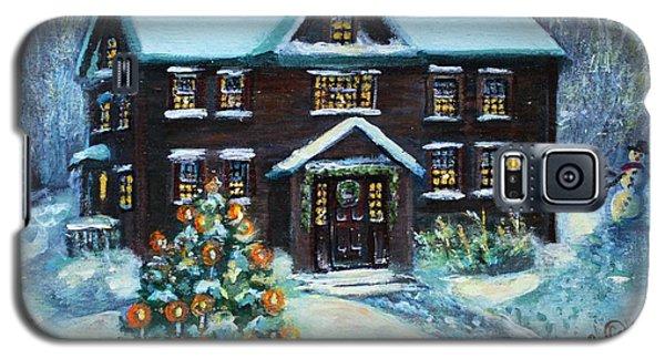 Louisa May Alcott's Christmas Galaxy S5 Case