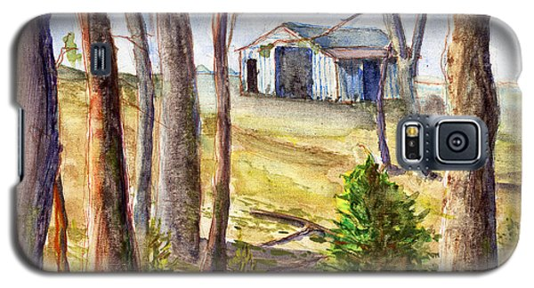 Galaxy S5 Case featuring the painting Louisiana Barn Through The Trees by Lenora  De Lude