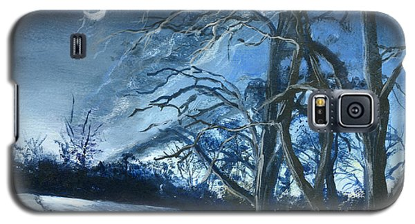 Galaxy S5 Case featuring the painting Louisiana Pasture In Winter by Lenora  De Lude