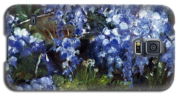 Galaxy S5 Case featuring the painting Louisiana Wisteria by Lenora  De Lude