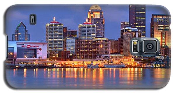 Louisville Skyline At Dusk Sunset Panorama Kentucky Galaxy S5 Case