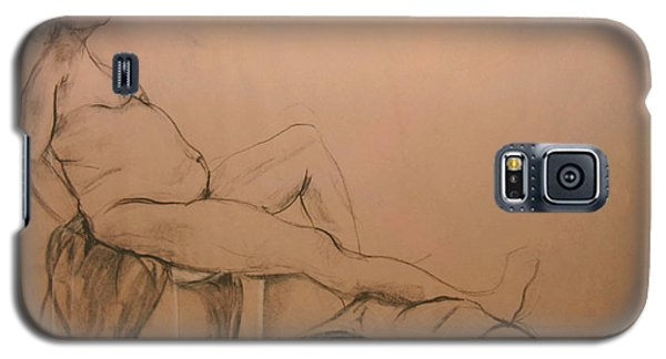 Galaxy S5 Case featuring the digital art Lounging Nude by Gabrielle Schertz