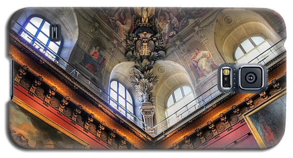 Galaxy S5 Case featuring the photograph Louvre Ceiling by Glenn DiPaola