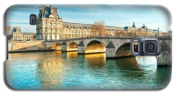 Louvre Museum And Pont Royal - Paris  Galaxy S5 Case by Luciano Mortula
