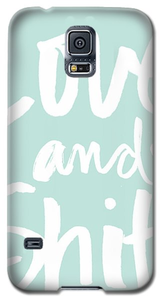 Love And Shit -greeting Card Galaxy S5 Case