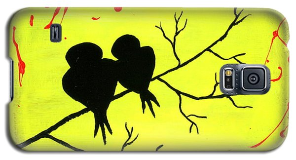 Love Birds Art Galaxy S5 Case