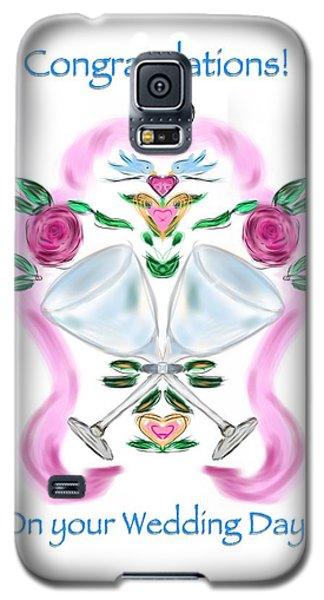 Galaxy S5 Case featuring the digital art Love Birds White Wedding by Christine Fournier