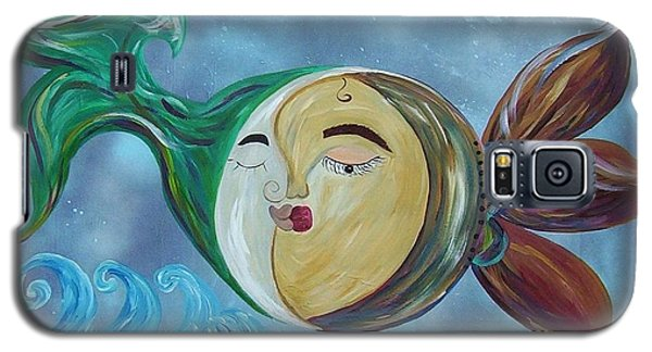 Galaxy S5 Case featuring the painting Love Connect - You Are My Moon And Sun by Eloise Schneider