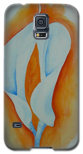 Galaxy S5 Case featuring the painting Calla Lilies by Geeta Biswas