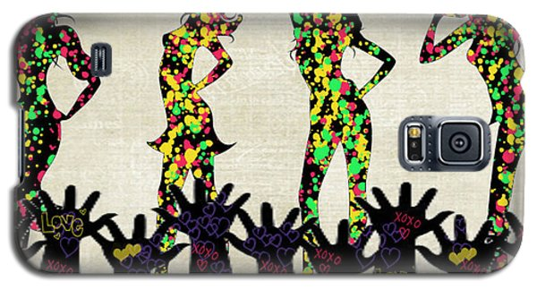 Galaxy S5 Case featuring the digital art Love Girls by Digital Art Cafe