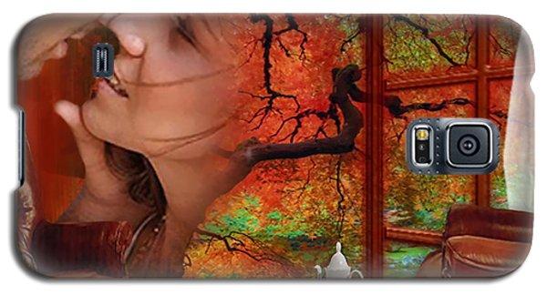 Galaxy S5 Case featuring the digital art Love In Autumn - Digital Art By Giada Rossi by Giada Rossi