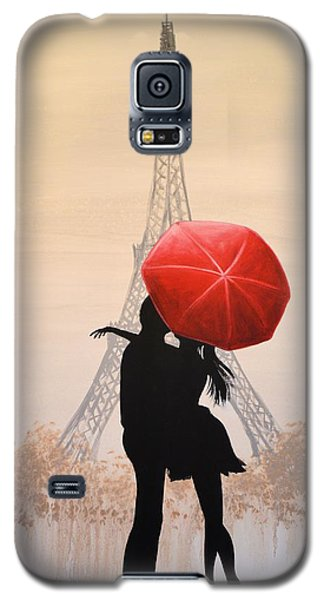 Galaxy S5 Case featuring the painting Love In Paris by Amy Giacomelli